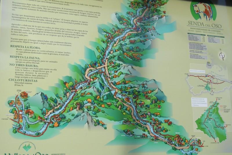 Mapa y recorrido